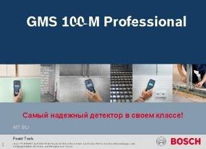 GMS 120 Professional GMS 100 M Professional CommunicationAnwendungsbilderhmgms