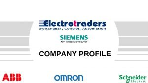 COMPANY PROFILE ELECTROTRADERS Date COMPANY BACKGROUND Electrotraders started