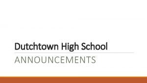 Dutchtown High School ANNOUNCEMENTS COVID19 Safety Rules 1
