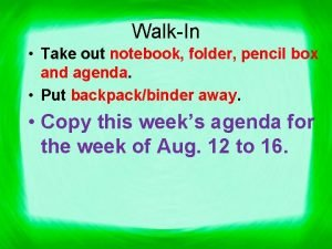 WalkIn Take out notebook folder pencil box and