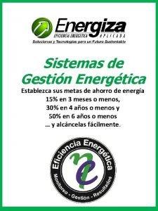 Sistemas de Gestin Energtica Establezca sus metas de