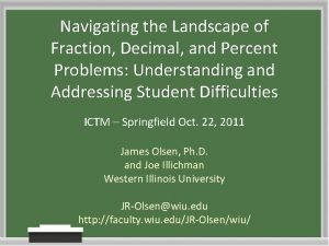 Navigating the Landscape of Fraction Decimal and Percent