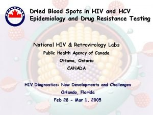 Dried Blood Spots in HIV and HCV Epidemiology