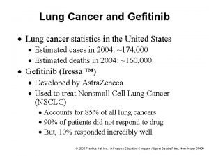 Lung Cancer and Gefitinib Lung cancer statistics in