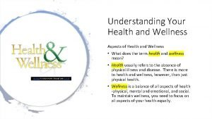 Understanding Your Health and Wellness Aspects of Health