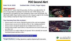 PDO Second Alert Date 01 2020 Incident title