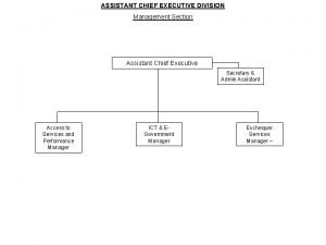 ASSISTANT CHIEF EXECUTIVE DIVISION Management Section Assistant Chief