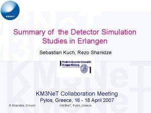 Summary of the Detector Simulation Studies in Erlangen