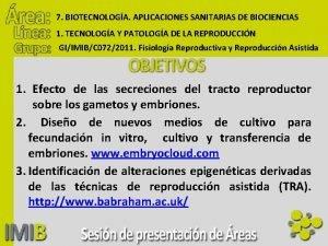 7 BIOTECNOLOGA APLICACIONES SANITARIAS DE BIOCIENCIAS 1 TECNOLOGA