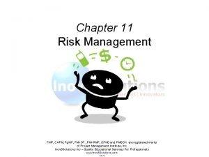 Chapter 11 Risk Management PMP CAPM Pg MP