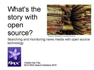 Whats the story with open source Photo source