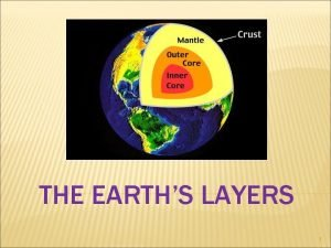 THE EARTHS LAYERS 1 Inner Core Outer Core