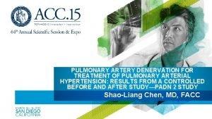 PULMONARY ARTERY DENERVATION FOR TREATMENT OF PULMONARY ARTERIAL