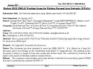 Doc IEEE 802 15 17 0064 00 0