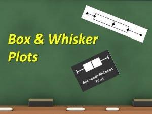 Box Whisker Plots Box Whisker Plots Objectives 7