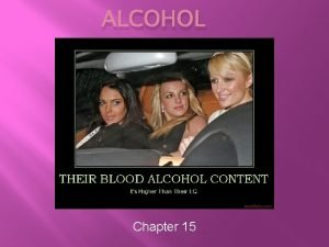 ALCOHOL Chapter 15 Alcohol as a drug Alcohol