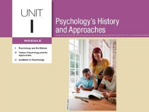 Learning Targets Module 2 Todays Psychology and Its