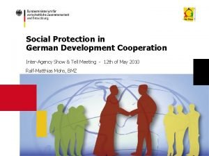 Social Protection in German Development Cooperation InterAgency Show