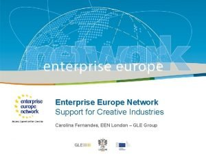 Enterprise Title Europe Network Support for Creative Industries