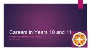 Careers in Years 10 and 11 CAREERS INFORMATION