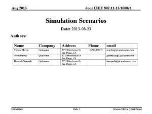 doc IEEE 802 11 131000 r 1 Aug