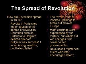 The Spread of Revolution How did Revolution spread