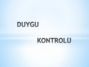 DUYGU HS DUYUM DUYGU DURUMUMOOD BLN DNCE DAVRANI