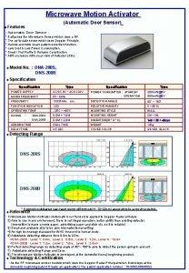 Microwave Motion Activator Automatic Door Sensor Features Automatic