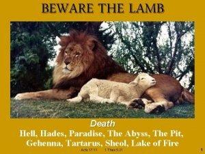 BEWARE THE LAMB Death Hell Hades Paradise The