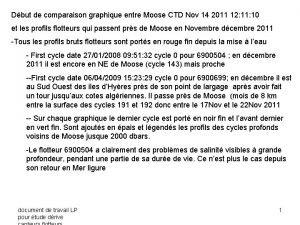 Dbut de comparaison graphique entre Moose CTD Nov