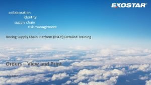 collaboration identity supply chain risk management Boeing Supply