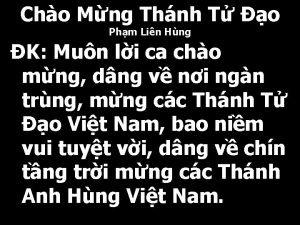 Cho Mng Thnh T o Phm Lin Hng