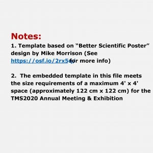 Notes 1 Template based on Better Scientific Poster