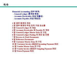 Financial Accounting General Ledger Accounts Receivable Accounts Payable