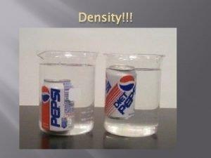 Density What is density Density The measurement of