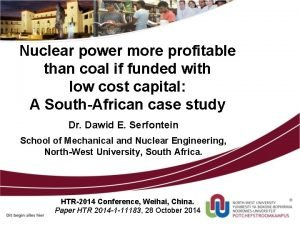 Nuclear power more profitable than coal if funded
