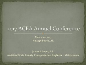 2017 ACEA Annual Conference May 9 10 2017