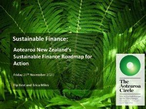Sustainable Finance Aotearoa New Zealands Sustainable Finance Roadmap