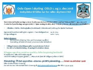 Oslo Open i skyting OSLO 1 og 2