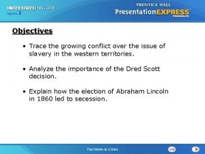 Chapter Section 2 25 Section 1 Objectives Trace