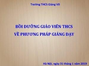 Trng THCS Ging V BI DNG GIO VIN