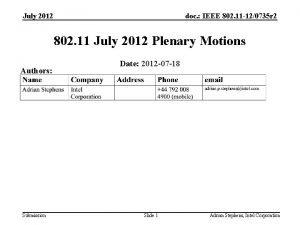 July 2012 doc IEEE 802 11 120735 r