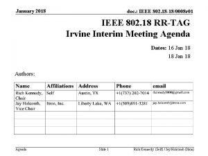 January 2018 doc IEEE 802 18 180008 r