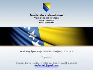 Agencija za javne nabavkenabave Bosna i Hercegovina Monitoring