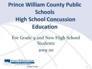Prince William County Public Schools High School Concussion
