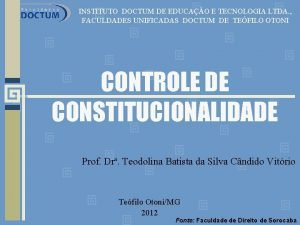 INSTITUTO DOCTUM DE EDUCAO E TECNOLOGIA LTDA FACULDADES