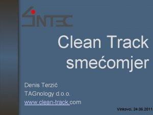 Clean Track smeomjer Denis Terzi TAGnology d o