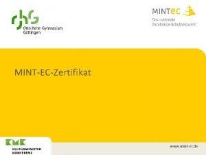 o Vorfhrung der Ergebnisse der Siegerprojekte vom MINTECAward