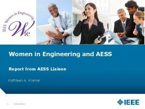 Women in Engineering and AESS Report from AESS