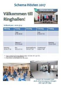 Schema Hsten 2017 Vlkommen till Ringhallen Ordinarie pass